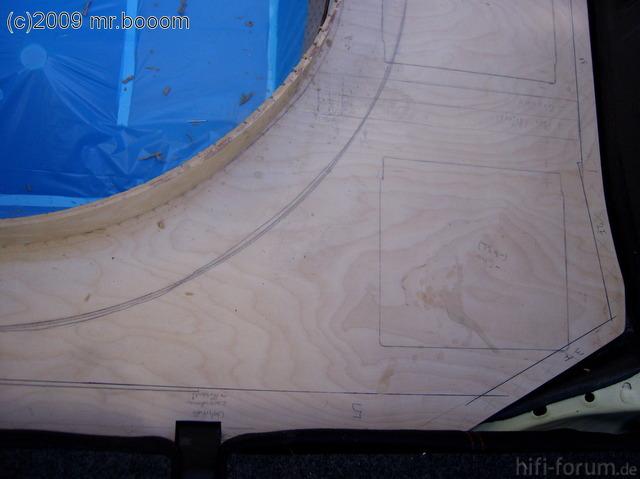 Reserveradmuldenausbau Ibiza 6L - Herstellung Basisplatte 24