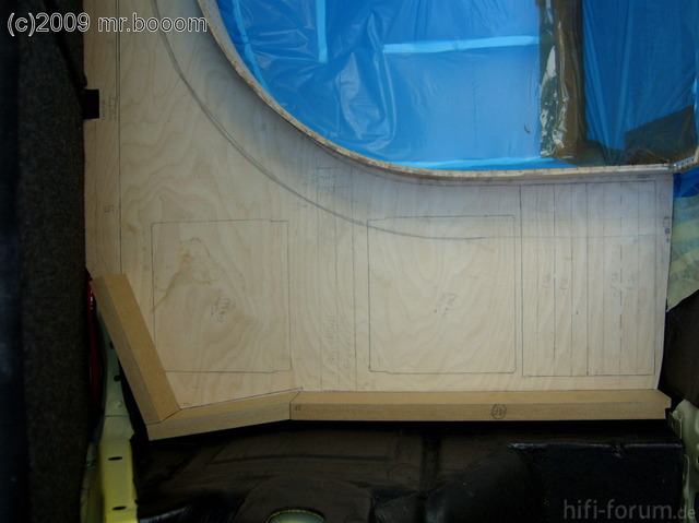 Reserveradmuldenausbau Ibiza 6L - Herstellung Basisplatte 28