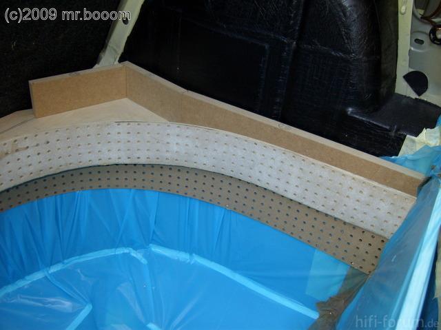 Reserveradmuldenausbau Ibiza 6L - Herstellung Basisplatte 30