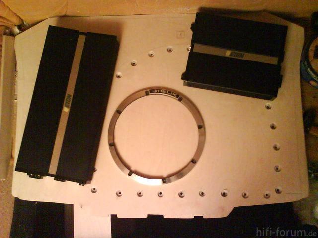 Reserveradmuldenausbau Ibiza 6L - Herstellung Mittelplatte 15
