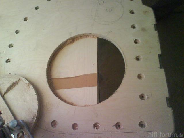 Reserveradmuldenausbau Ibiza 6L - Herstellung Mittelplatte 17