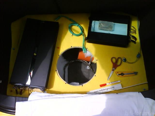 Reserveradmuldenausbau Ibiza 6L - Herstellung Mittelplatte 29