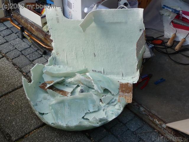 Reserveradmuldenausbau Ibiza 6L - Laminierung - Entformen 6