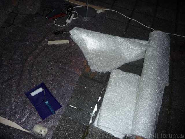 Reserveradmuldenausbau Ibiza 6L - Laminierung - Material 1
