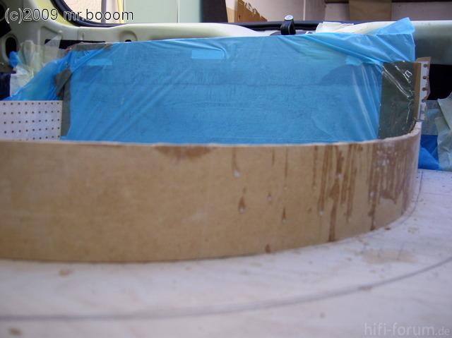 Reserveradmuldenausbau Ibiza 6L - Laminierung V2 - Grundform 21