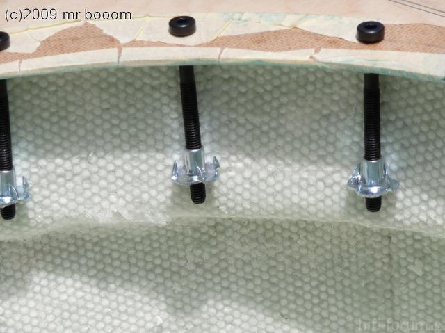 Reserveradmuldenausbau Ibiza 6L - Laminierung V2 - Mittelplattenbefestigung 5