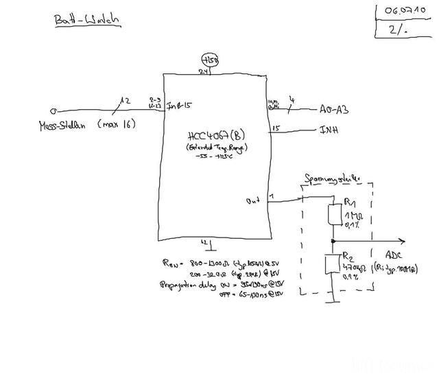 Reserveradmuldenausbau Ibiza 6L - Planung Batterieüberwachung 2