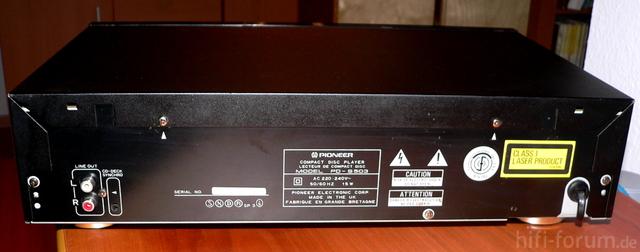 Pioneer PD S 503 Rückseite