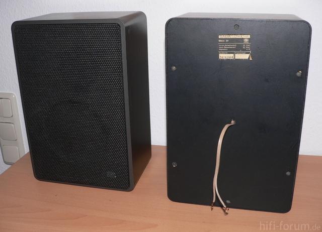 SABA Ultra HiFi Box 31 Front Rück