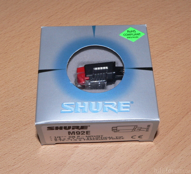 Shure M 92 E Verpackung