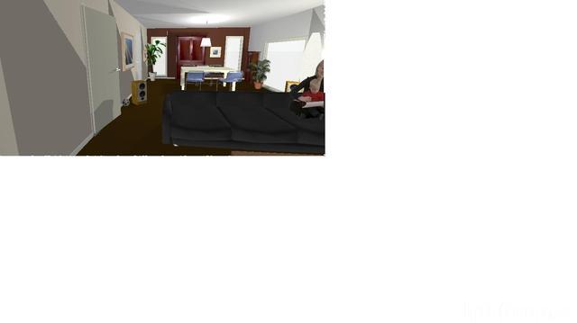 Wohnzimmer Blick übers Sofa