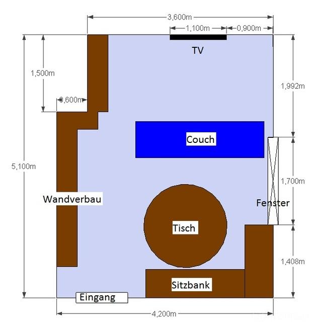 Wohnzimmerplan