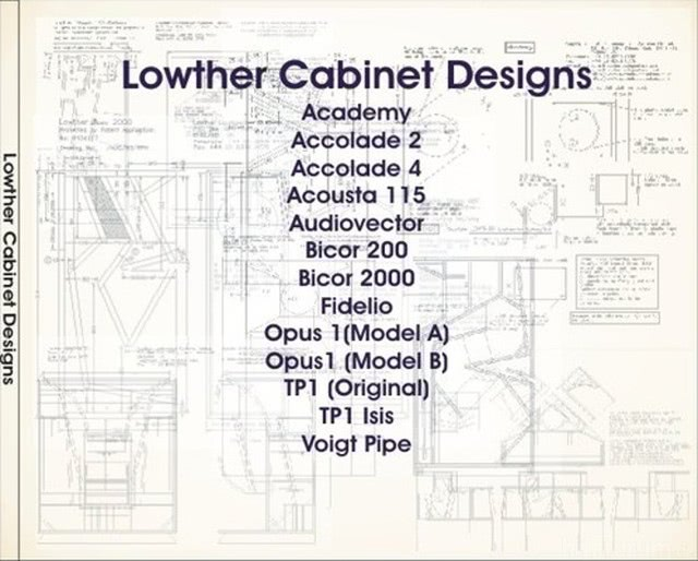 Lowther Cabinet Bauplan-CD