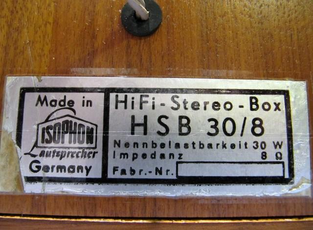Isophon HSB 30/8
