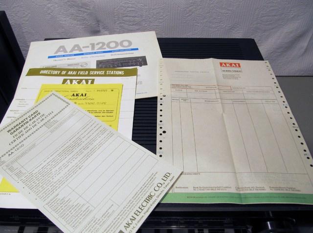 Papiere vom Akai AA-1200