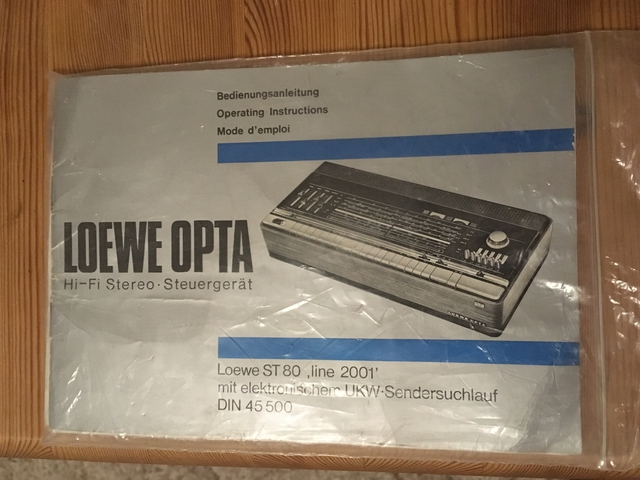 Manual & Schaltplan Loewe Opta ST 80 & Konzertbox LO 55