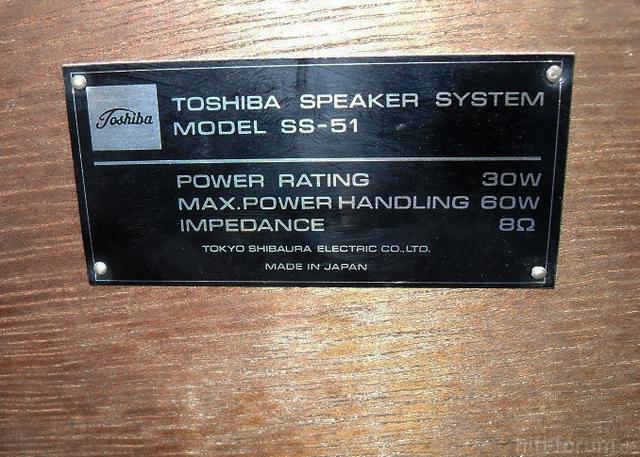 4  Toshiba Ss 51 Schild