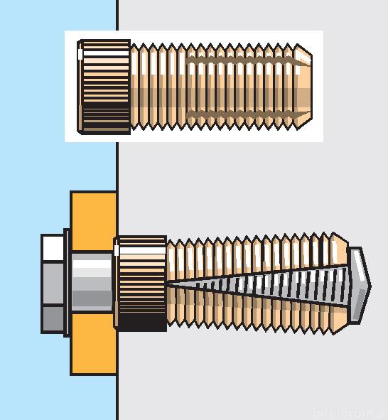 Messingdübel Für Maschinenschrauben In Wänden/Decken
