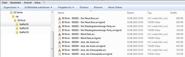 Dateien Entpacken