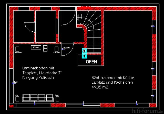 Wohnzimmer-Heimkino