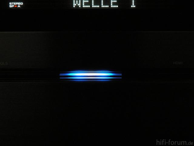 Blaue LED.