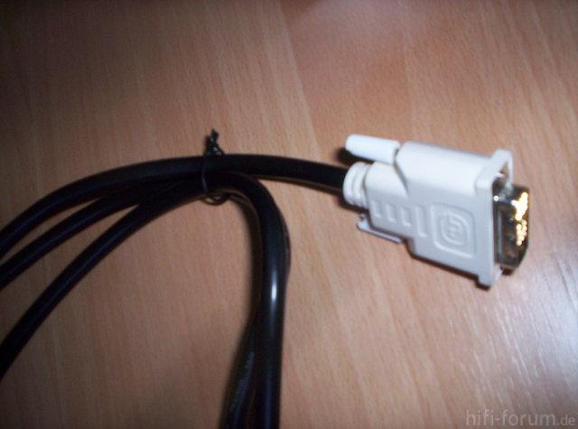 1,50m Kabel DVI Stecker Seitlich