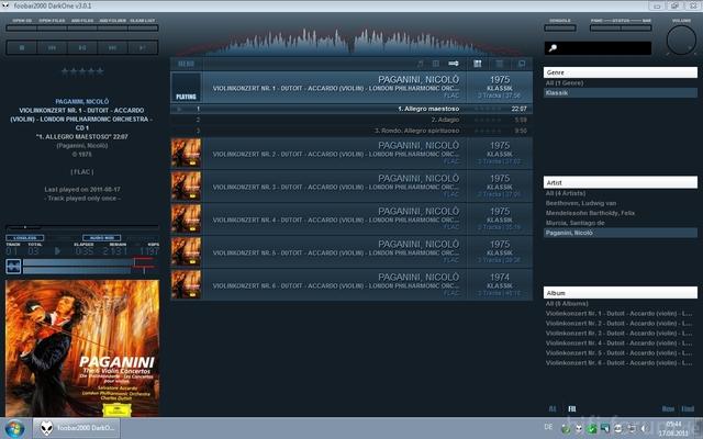 Remote Desktop: foobar2000 mit