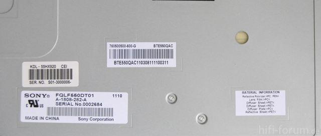 HX920 Serienummer