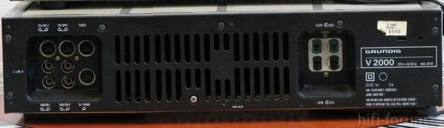 Grundig V-2000 Rückseite