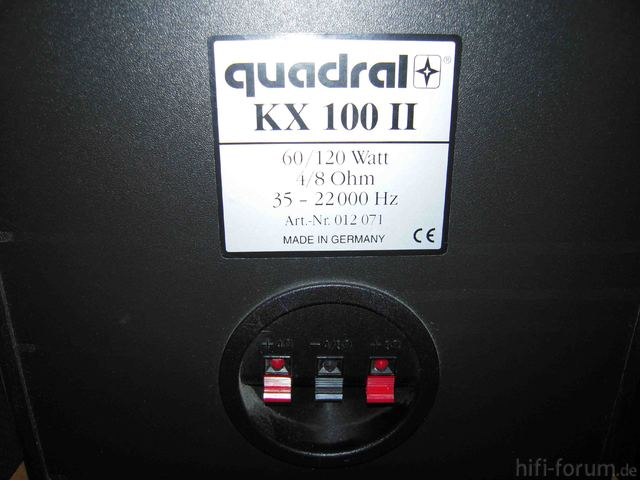 Quadral KX 100 II Back