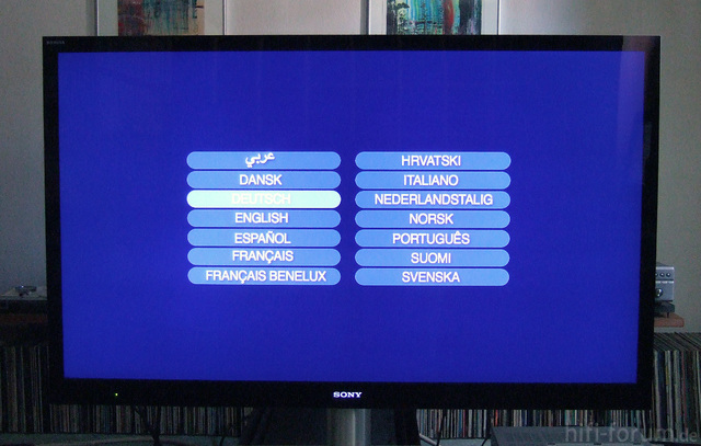 Paramount Blu-ray Menu On Sony KDL55HX925