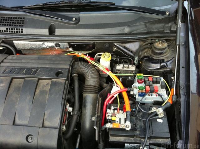 Motorraum Fiat Stilo