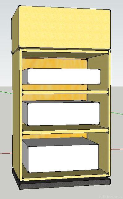 Hifi rack geschlossen  Granitböden oder Holz? u. bitte um feedback - Rackpläne, Racks ...