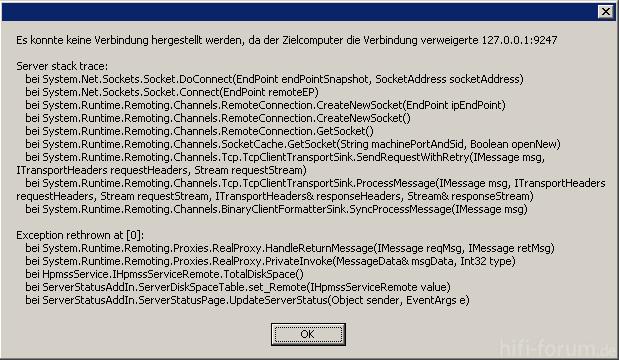 X510 Fehlermeldung Zielcomputer Nicht Erreichbar