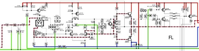 AVR X4100W Power-Amp Schaltung