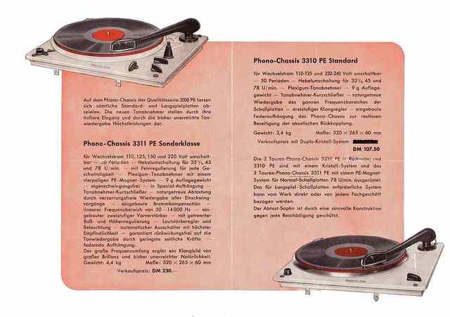 Werbeprospekt PE 3310 Und 3311