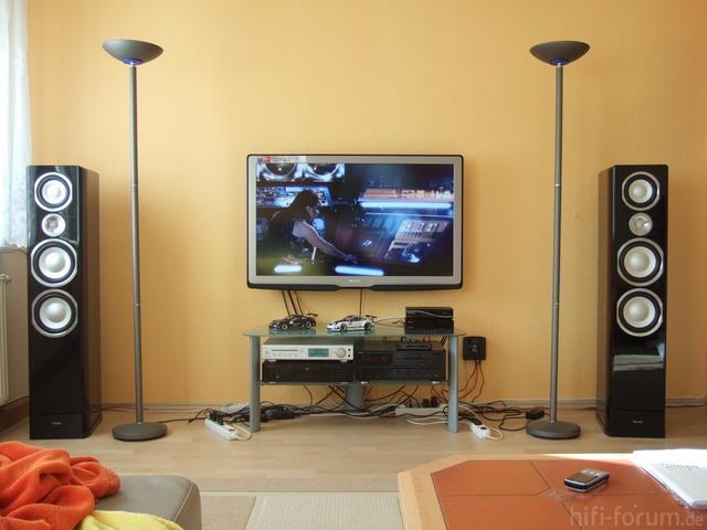 Bilder eurer hifi stereo anlagen allgemeines hifi forum - Tv an der wand ...