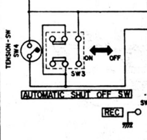 AKAI 1721 Tension Switch / Automatic Switch