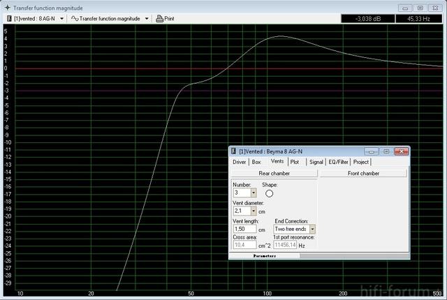 Beyma WinISD Simulation