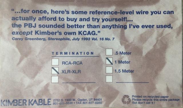 Kimber PBJ XLR