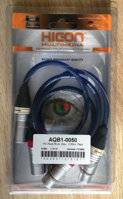 Sommer Cable Aqua Blue XLR