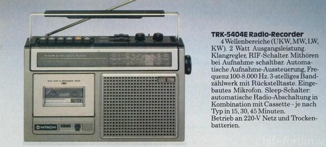 Hitachi TRK-5404 E...2