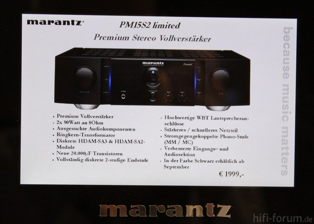 Marantz PM 15S2 Limited   1