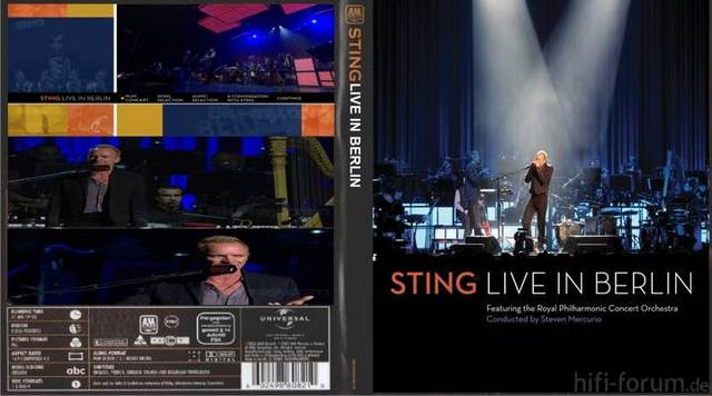 Sting Live In Berlin Front Cover 49305