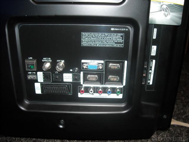 PS50C687 Anschlüsse Rückseite