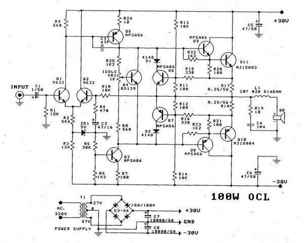 High Power Mosfet  lifier Circuit Ideas as well 74268 together with Rangkaian Power  lifier 800 Watt Ocl moreover Power  po Audio Circuit Using S 0050 besides Kumpulan Skema Power  lifier. on ocl power