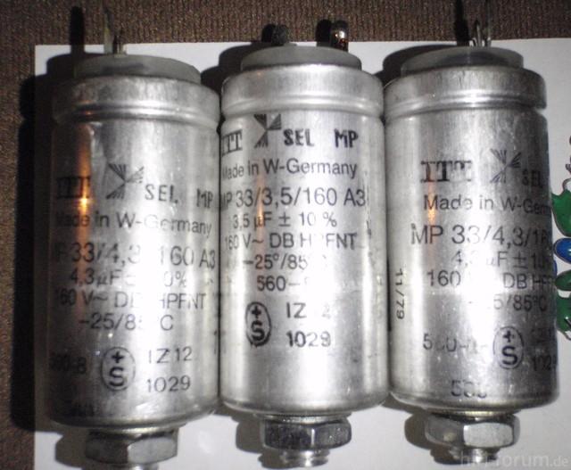 B77 (5) Motorkondensatoren