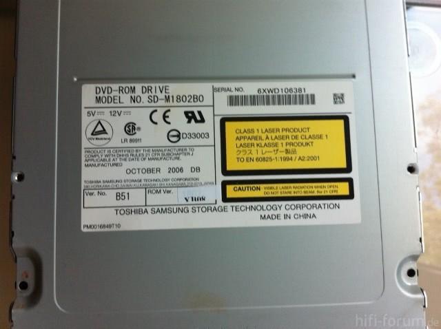 Toshiba DVD-ROM Bose