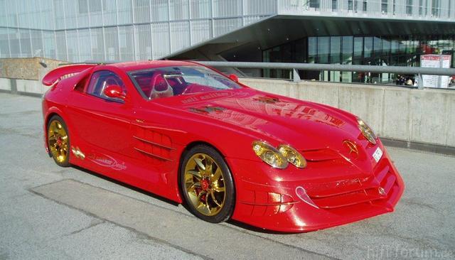 999 Gold Mercedes Slr 10