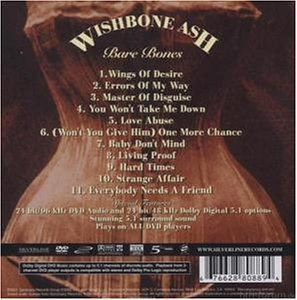 Wishbone Ash   Bare Bones   Back